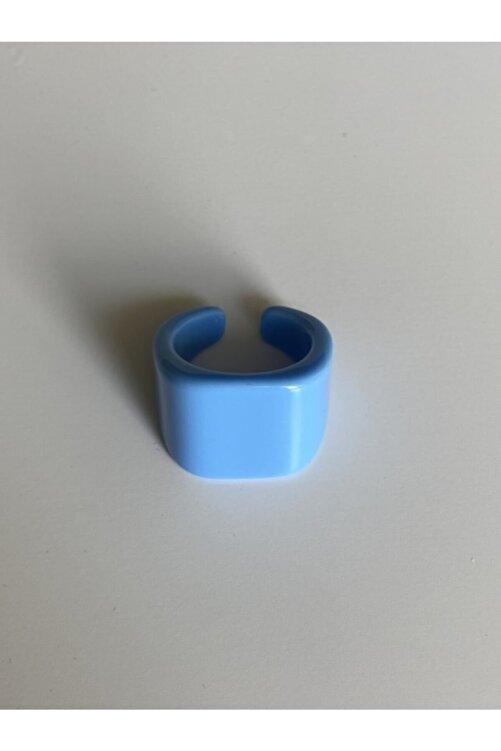 lesseffortless Mavi Yassı Plastik Yüzük 2