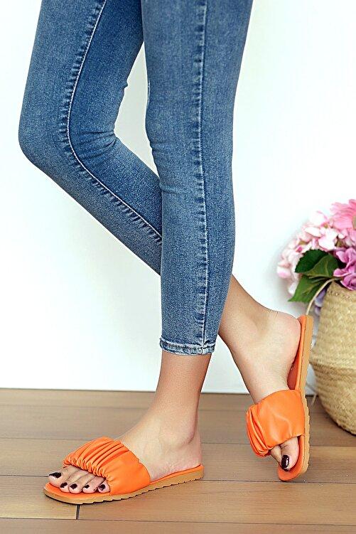 Pembe Potin Kadın Orange Sandalet 1
