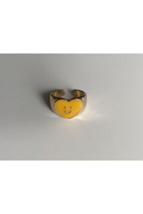 lesseffortless Sarı Smiley Gold Yüzük 1
