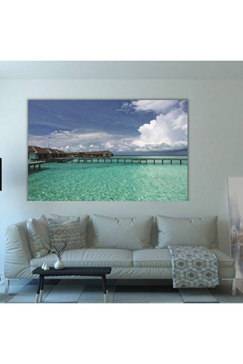 SDS Aral Maldivler Dekoratif Kanvas Tablo 50x30 1