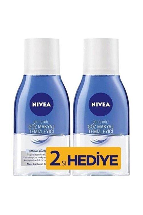 Nivea Make Up Expert Hassas Çift Fazlı 125 ml 2'li Paket Göz Makyaj Temizleyici 1