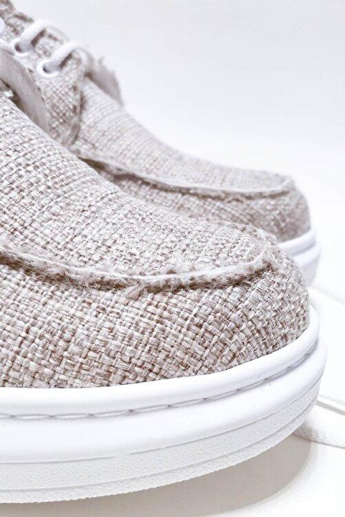 Bitmedeniste Erkek Keten Bej Sneaker Spor Ayakkabı 2