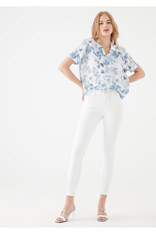 Mavi Kadın Tess Gold Beyaz Jean Pantolon 100328-28143 2