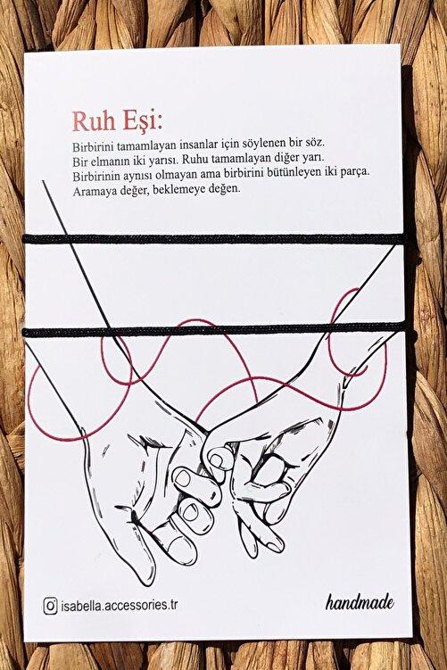 İsabella Accessories Kırmızı Red String Ip Çift - Sevgili Bilekliği - Ruh Eşi Kartlı 1