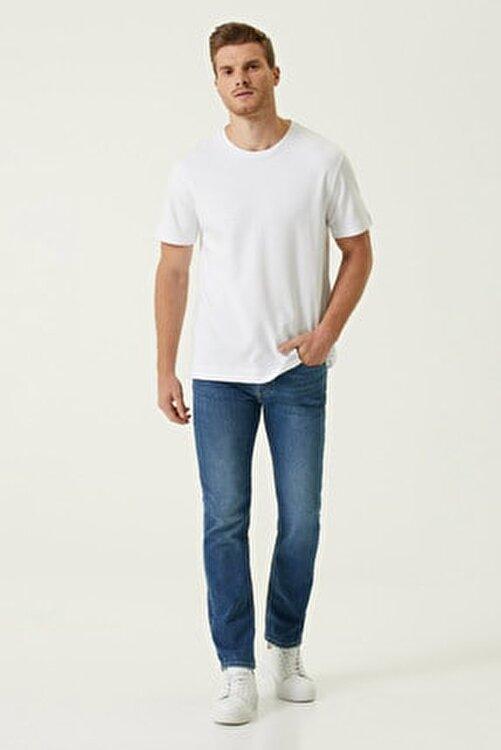 Network Erkek Comfort Fit Beyaz Bisiklet Yaka Basic T-shirt 1078326 2