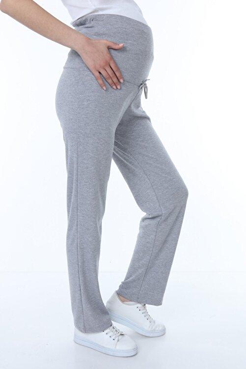 Luvmabelly Kadın Beli Ayarlanabilir Hamile Günlük Ev Pantolonu -gri 1