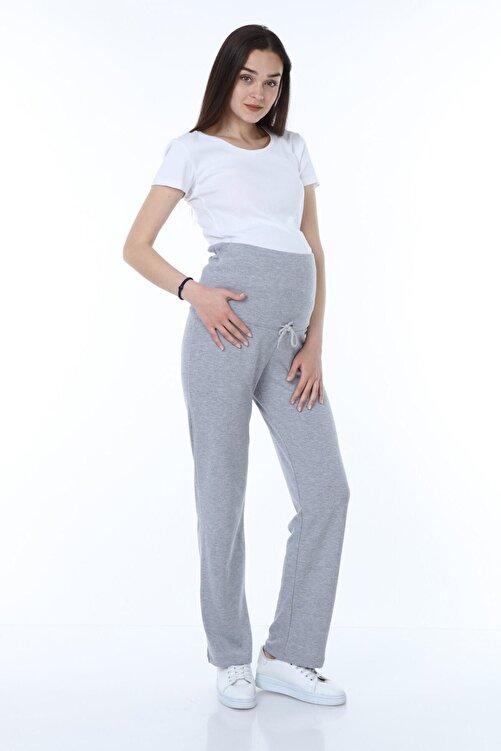 Luvmabelly Kadın Beli Ayarlanabilir Hamile Günlük Ev Pantolonu -gri 2