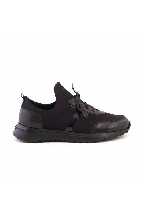MOCASSINI Erkek Siyah Deri Bağcıklı Spor & Sneaker D2156t 1