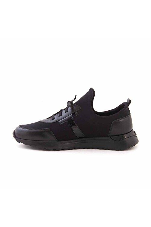 MOCASSINI Erkek Siyah Deri Bağcıklı Spor & Sneaker D2156t 2