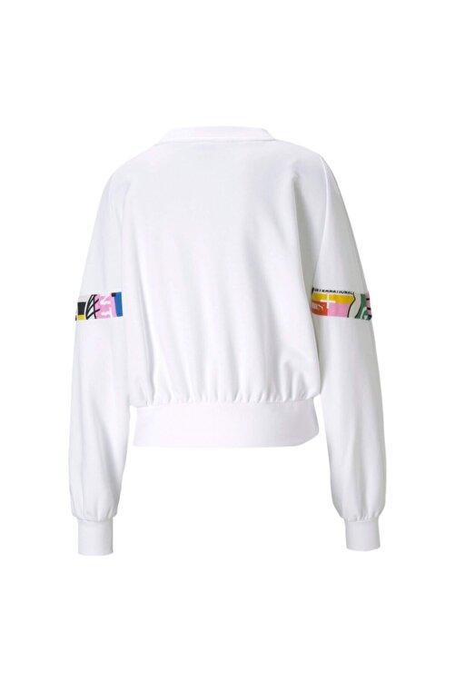 Puma Kadın Beyaz Sweatshirt 53104502 2