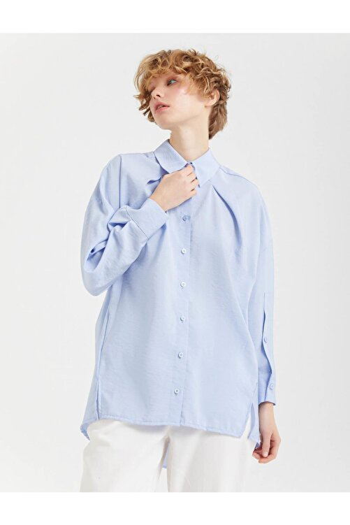 BGN Buz Mavisi Rahat Kesim Gömlek 2