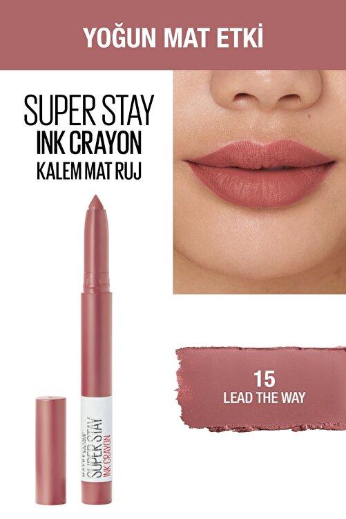 Maybelline New York Kalem Ruj - Sw Superstay Ink Crayon 15 Lead the Way 30174184 2