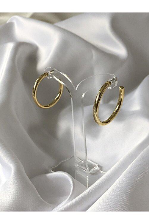 The Y Jewelry Kadın Altın Renk Halka Küpe 1