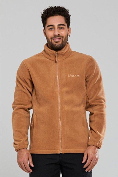 2AS Erkek Kahverengi Tam Fermuarlı Polar Sweatshirt 100013sw-kahverengi 1