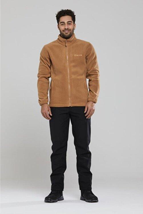 2AS Erkek Kahverengi Tam Fermuarlı Polar Sweatshirt 100013sw-kahverengi 2