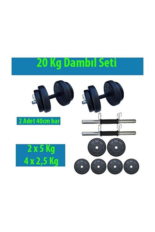Dambılcım 20 Kg Dambıl Seti Ağırlık Ve Vücut Geliştirme Aleti 20 Kg Spor Dumbell Set 2