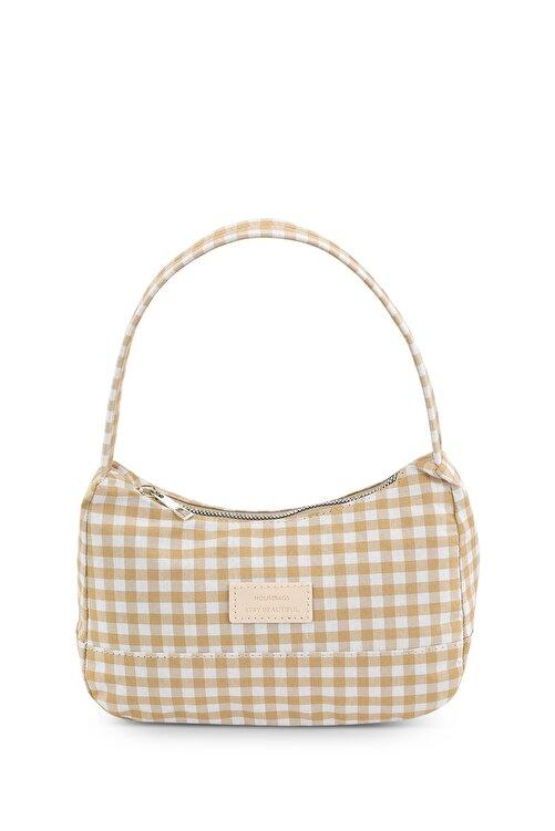 Housebags Kadın Pötikareli Vizon Baguette Çanta 197 1