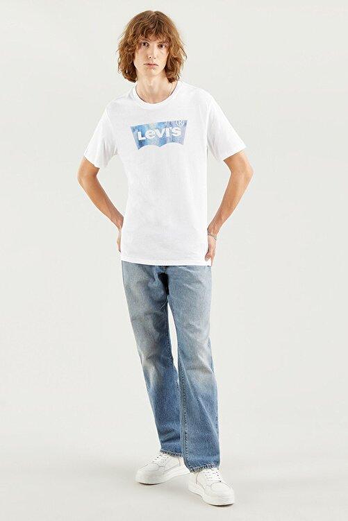 Levi's Erkek Housemark Graphıc Tee Ssnl Bw Fıll Whıt T-Shirt 22489-0343 1