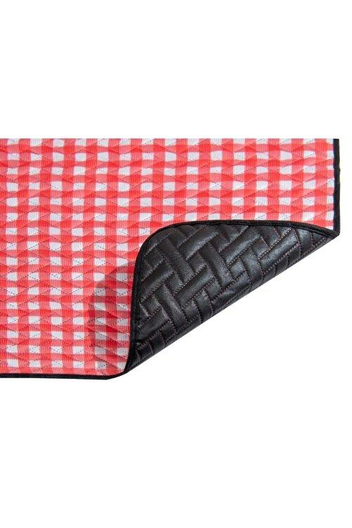 Veramoni Çantalı Piknik Örtüsü 150x160 Cm Kırmızı Su Geçirmez Taban 2