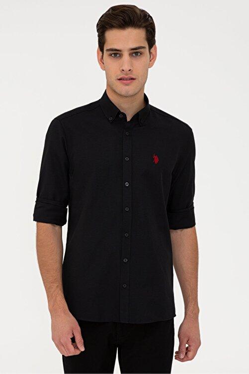 U.S. Polo Assn. Sıyah Erkek Gömlek 1