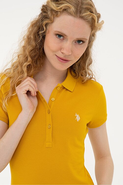 U.S. Polo Assn. Sarı Kadın T-Shirt 2