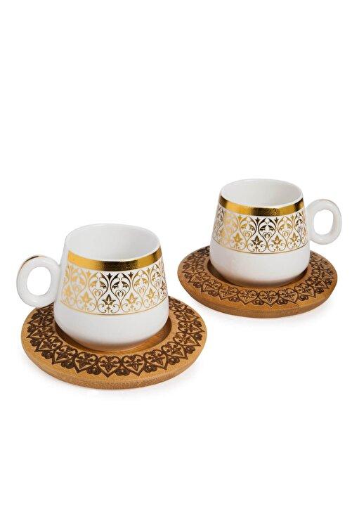 Bambum Ottoman - 2 Kişilik Kahve Takımı Desen Altlıklı B0240 2