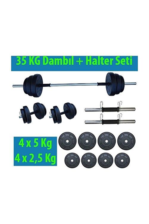 Dambılcım 35 Kg Halter Seti Dambıl Seti Ağırlık Ve Vücut Geliştirme Aleti 35 Kg Spor Dumbell Set 2