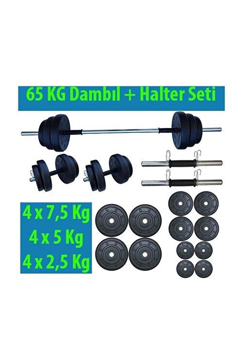Dambılcım 65 Kg Halter Seti Dambıl Seti Ağırlık Ve Vücut Geliştirme Aleti 65 Kg Spor Dumbell Set 2