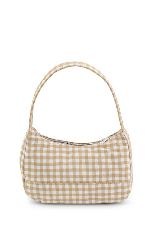 Housebags Kadın Pötikareli Vizon Baguette Çanta 197 2