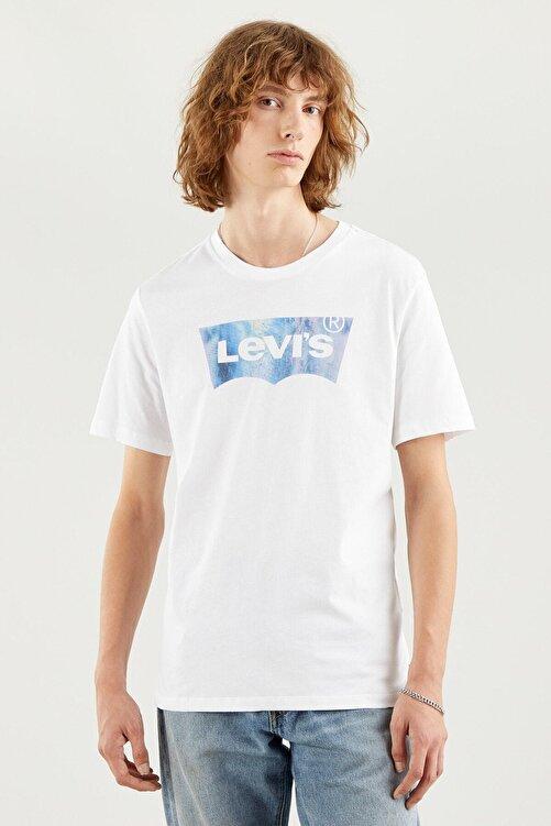 Levi's Erkek Housemark Graphıc Tee Ssnl Bw Fıll Whıt T-Shirt 22489-0343 2