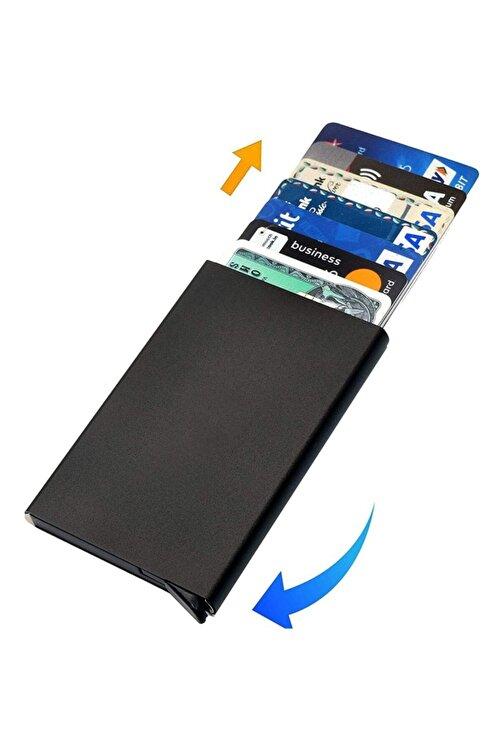 Emek Siyah Otomatik Mekanizmalı Metal Kredi Kartlık Kartvizitlik 1