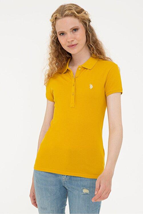 U.S. Polo Assn. Sarı Kadın T-Shirt 1