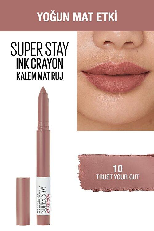 Maybelline New York Kalem Ruj - Sw Superstay Ink Crayon 10 Trust Your Gut 30174177 2