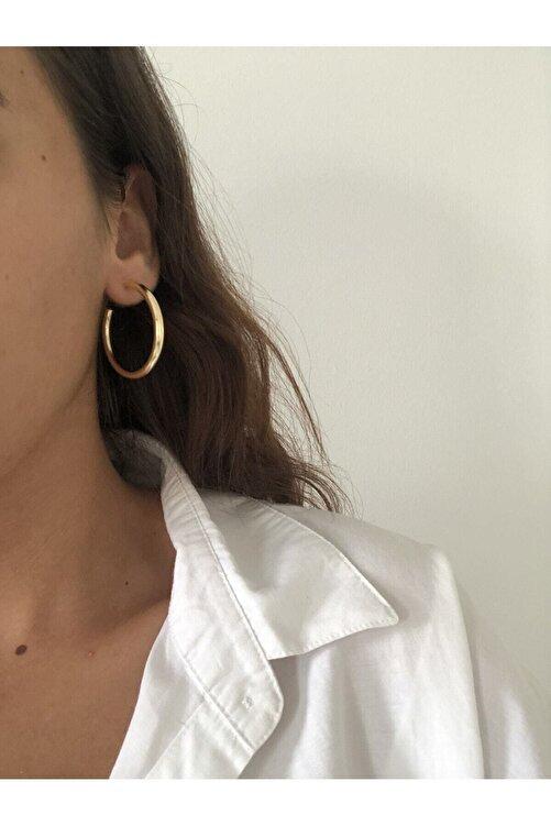 The Y Jewelry Kadın Altın Renk Halka Küpe 2