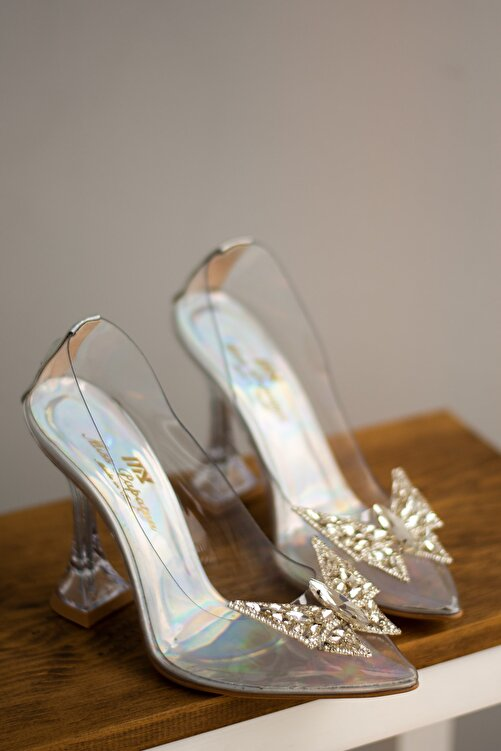 Miss Papatya Ayakkabı Misspapatya Vanni Gri Şeffaf Topuklu Ayakkabı 1