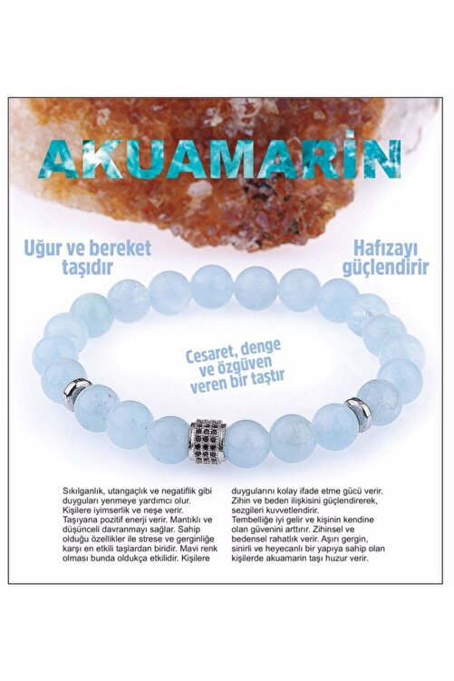 OSMANLI DOĞAL TAŞ Doğal Taş Bileklik - Akuamarin,aquamarine 1