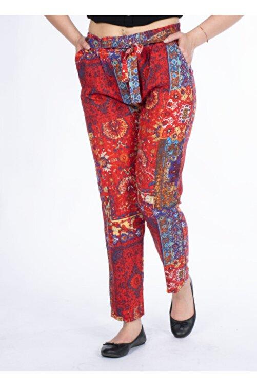 Vision Kadın Turuncu Desenli Pantolon 1