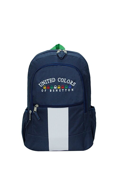 United Colors of Benetton Unisex Lacivert Matara Cepli Sırt Çantası 70051 1