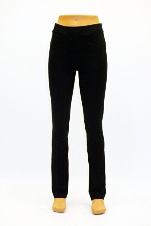 Otto Ladın Siyah Çelik Örgü 5 Cepli Tayt Pantolon 1