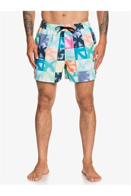 Quiksilver Erkek Mavi Beli Lastikli Renkli Deniz Şortu Eqyjv03587 2