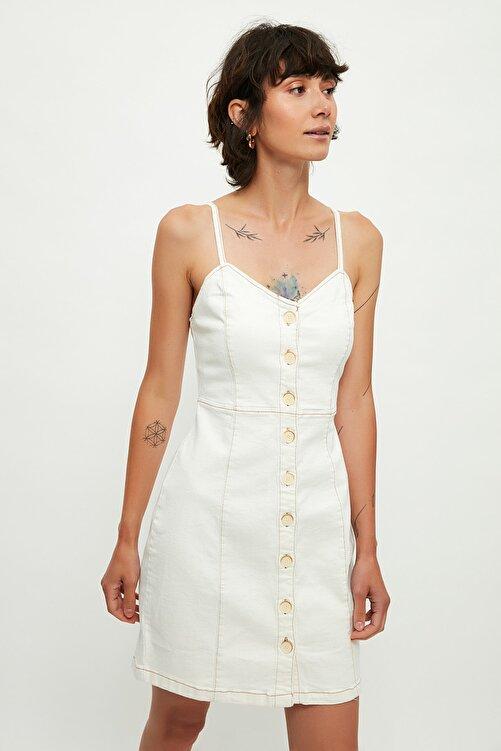 Mango Kadın Ekrü Elbise 53060845 1