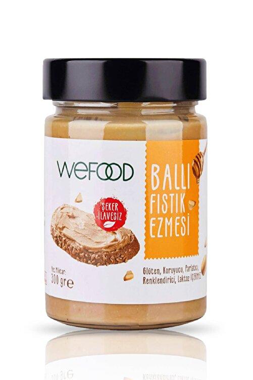 Wefood Şekersiz Ham Ballı Fıstık Ezmesi 300 gr (Fıstık Parçacıklı) 1