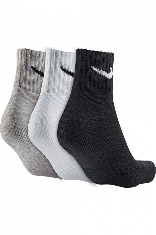 Nike Unisex Siyah Everday Lightweight  Antrenman Bilek 3'lü Çorap Sx7677-901 - Lg 2