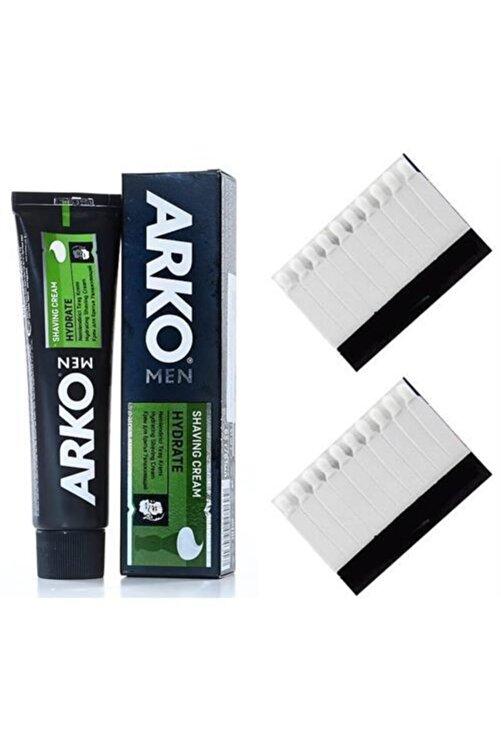 ARKO Hydrate Nemlendiricili Tıraş Kremi ve 20 Kan Taşı Set 714050 1