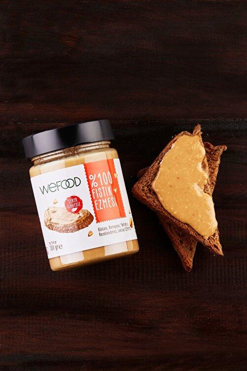 Wefood Şekersiz Sade %100 Fıstık Ezmesi 300 gr (Fıstık Parçacıklı) 2