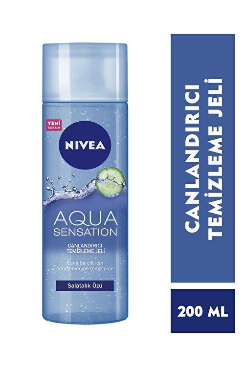 Nivea Aqua Sensatıon Canlandırıcı Yüz Temizleme Jeli Normal/Karma 200 ml 1