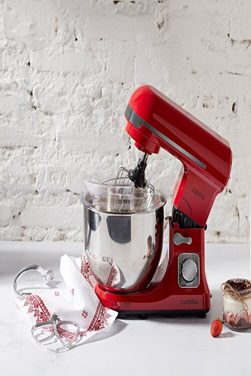 Cookplus by Karaca Quick Chef 1001 Stand Mikser 1000W Mutfak Şefi Red 1