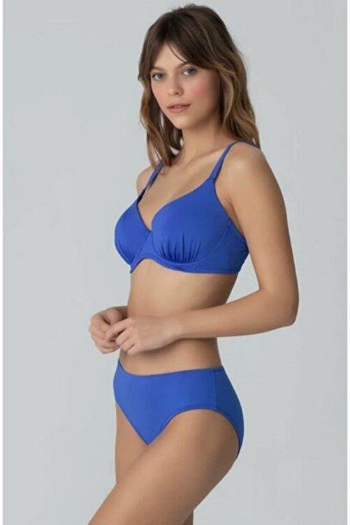 Kom Çıkarılabilir Push Up Destekli Viol Düz Renk Toparlayıcı Bikini 2