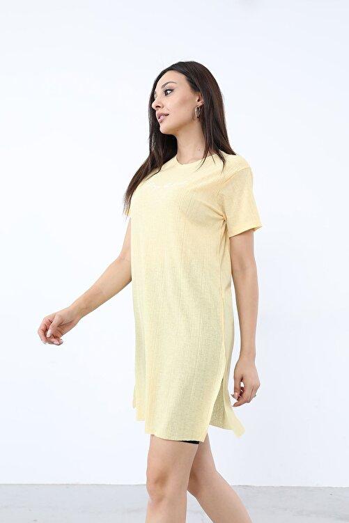 BY H Alwarys Be Kind Baskılı T-shirt Sarı 2