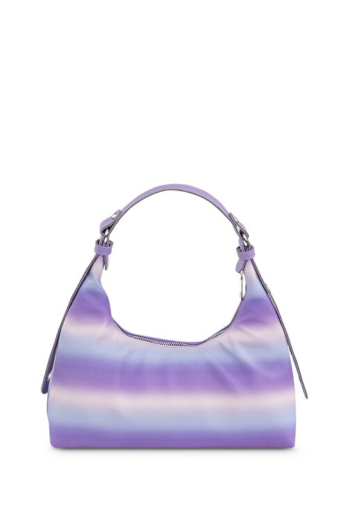 Housebags Kadın Çok Renkli Mor Baguette Çanta 205 2
